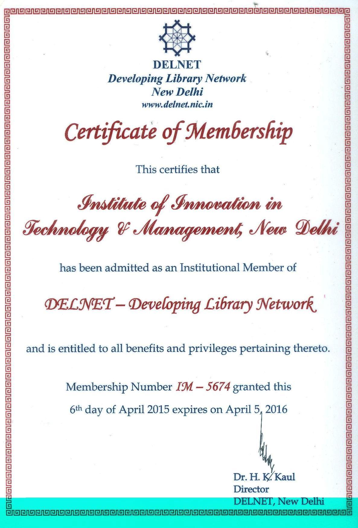 Mahor Technology Management: DELNET – IITM Janakpuri Delhi