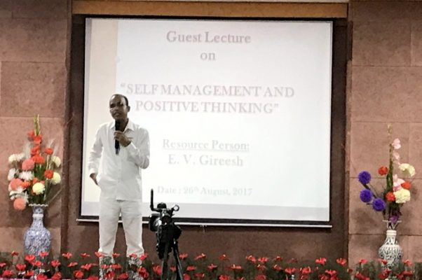 Guest Lecture on Self Management & Positive Thinking by E. V. Gireesh IITM Janakpuri New Delhi www.iitmjp.ac.in