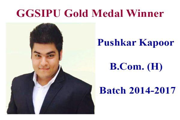 Gold Medalist Pushkar Kapoor 2 IITM Janakpuri Delhi www.iitmjp.ac.in