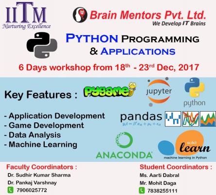 Python Barin Mentors Game Application Development IITM Janakpuri Delhi www.iitmjp.ac.in