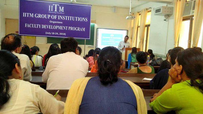 FDP IITM Janakpuri Delhi GGSIPU BCA BBA B.COM www.iitmjp.ac.in