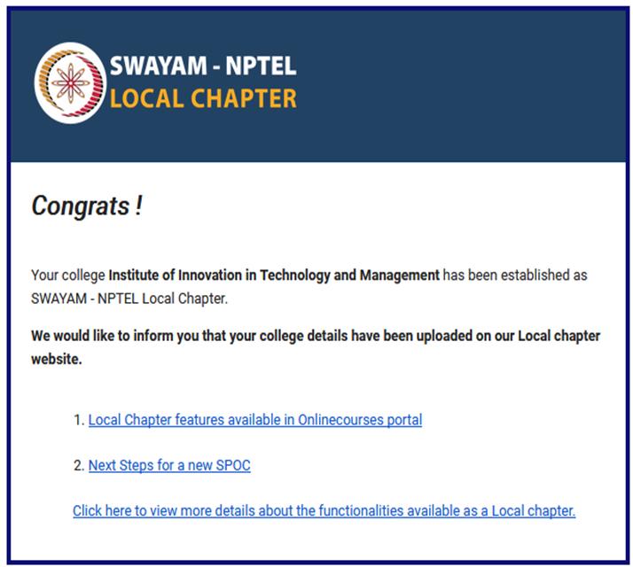 Swayam NPTEL IITM Janakpuri Delhi www.iitmjp.ac.in GGSIPU