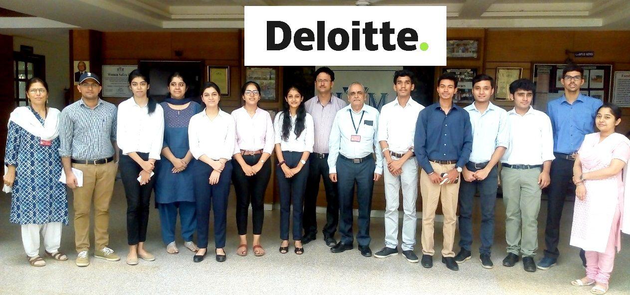 Deloitte Placement Company IITM Janakpuri New Delhi Best Top College GGSIPU BCA BBA BCOM www.iitmjp.ac.in