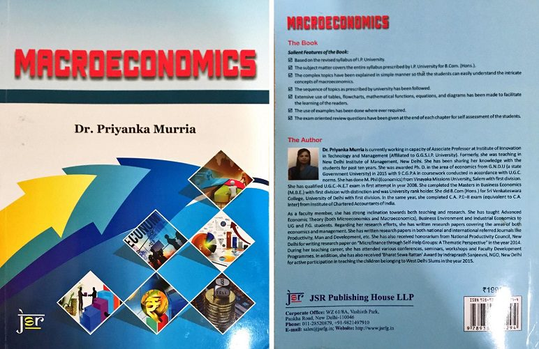 Macroeconomics Book Dr Priyanka Murria IITM Janakpuri Delhi Top Best College GGSIPU